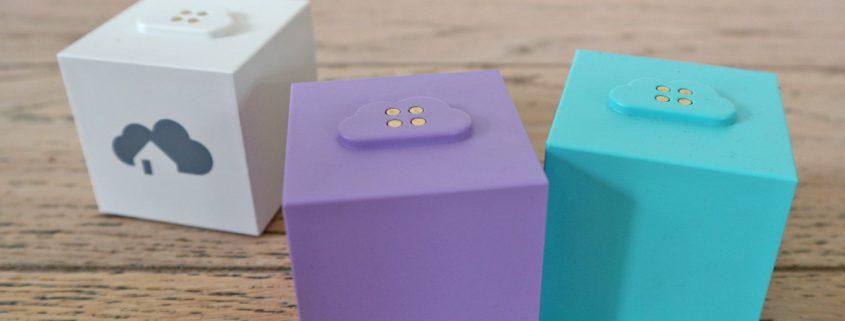 homee - das modulare SmartHome-System. Im Bild der Brain Cube, Z-Wave und EnoCean Cube