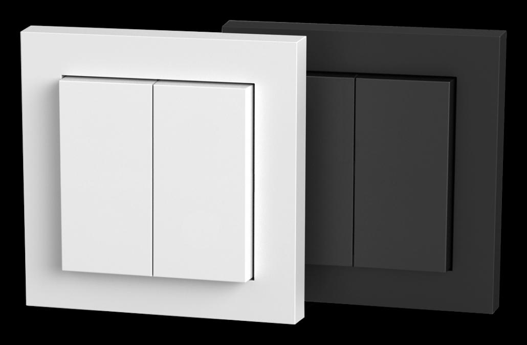 Senic Smart Switch in schwarz und weiß